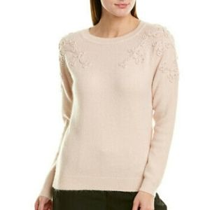 Nwt Nanette Lepore sweater w/ embroidery detail L